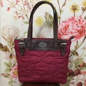 Fossil Key-Per Darker Red Quilted…